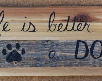 Reclaimed Wood Dog Leash Hook