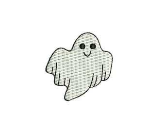 Cute Mini Ghost - Halloween machine embroidery design. 3 sizes. Instant download