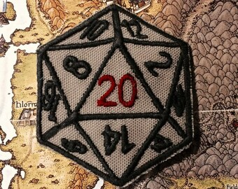 D20 Iron on Patch (Free Shipping)