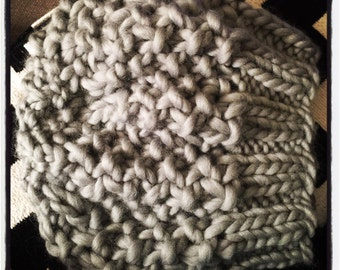 Super Chunk Wool Hand Knit Slouchy Hat