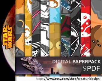 Star Wars Digital Paper Pack