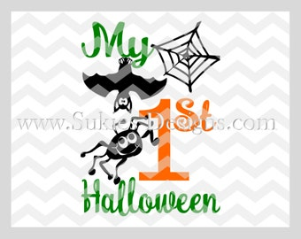 My 1st Halloween SVG File For Cricut and Cameo DXF for Silhouette Studio Cutting File Halloween svg, Kids svg file, 1st Halloween svg
