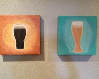 Craft Beer art (2 panels)