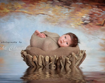 Digital backdrop newborn boy or girl fairy tail