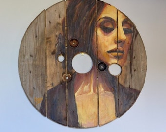 "Painting on wood ""Marisol"""