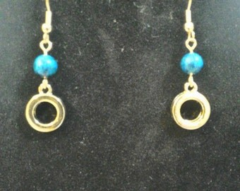 Gold Plated Circle Earring