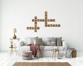 Custom Scrabble Tiles // Large Scrabble Tiles // Scrabble Gallery Wall // Custom Home Decor