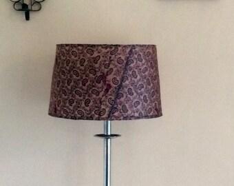 upcycled thai silk skirt lampshade