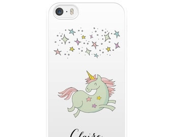 Stars iPhone Case, Unicorn iPhone Case, Custom iPhone Case, Personalised iPhone Case, iPhone 5, iPhone 5s, iPhone 6, iPhone 6s, Gift
