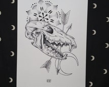 Prints A4 - The moon and the fox-