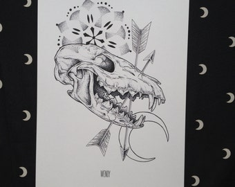 Prints A4 - The moon and the fox - Limited