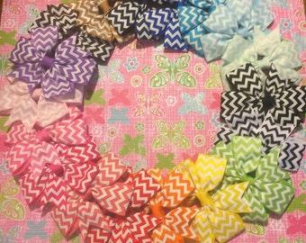 """3"""" Custom Made Pinwheel Hairbows Girls Hair Bows."""
