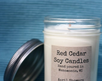 April Showers Soy Wax Candle 8 OZ