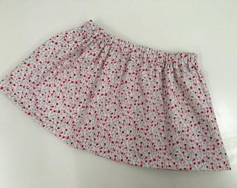 Girl's skirt, toddler skirt, girl's cotton skirt