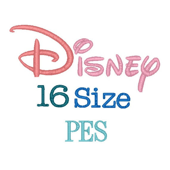 disney font for embroidery machine