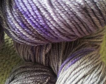 Black Iris- Sock yarn skein