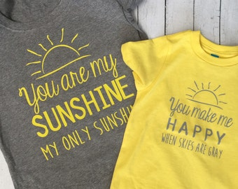 You are my sunshine, mommy and me set, matching shirts