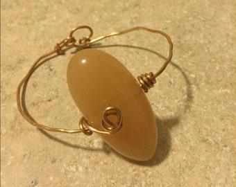 Handmade Gold wired bracelet
