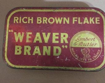 Tin box Weaver Brand
