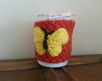 Handmade Butterfly Mug Hug / Cozy - Insulation & Mug Protection