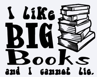 I Like Big Books Vinyl Decal / Librarian / Library