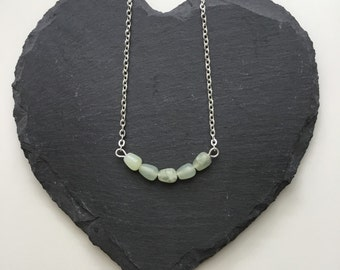 Jade Curved Bar Necklace