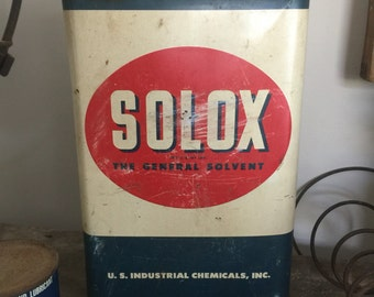 1940's era Vintage Solvent Can