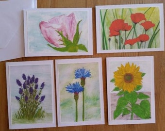 Cards with flowers - motives / greeting cards