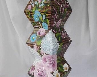 column painting, flowers, vase, decoration, one stroke,