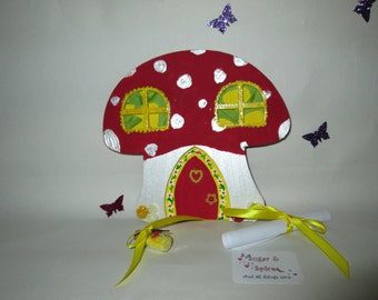 Toad stool fairy house