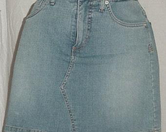 Vintage Blue Jean Skort 80's 90's Gloria Vanderbilt