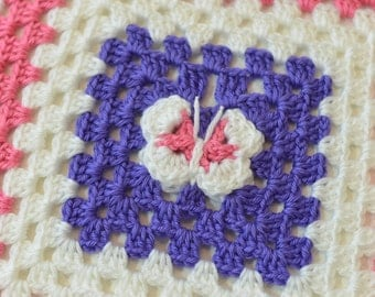 Butterfly Granny Square Baby Blanket