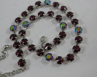 Purple Haze Swarovski Crystal Necklace