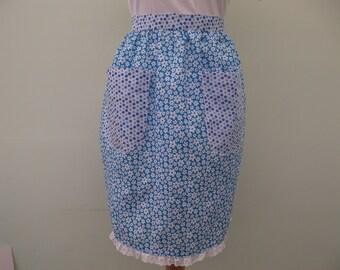 Floral waist style apron