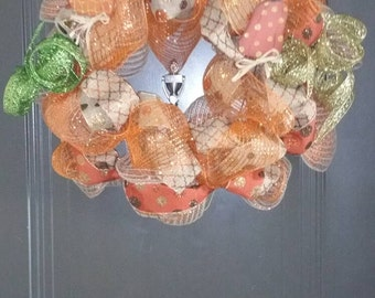 Thanksgiving Day Deco Mesh wreath