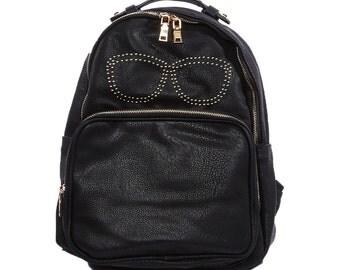 stud sunglasses vegan pu backpack