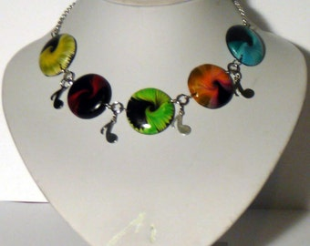 Necklace swirl musical polymer