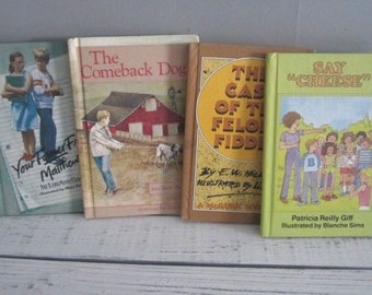Four Vintage Weekly Reader Books Vintage Children's Chapter Books