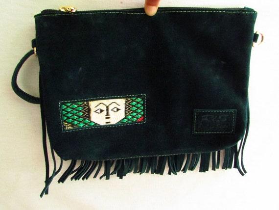 suede leather clutch, fringe leather clutch, Evening bag, fringe wallet, large leather wallet, women wallet, Elegant clutch