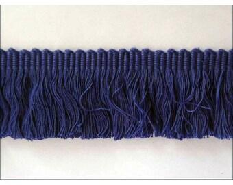 cotton brush fringes navy