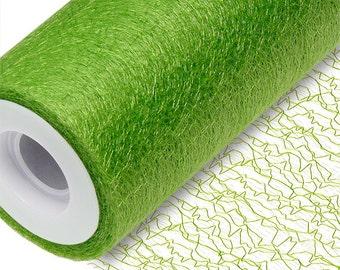 Full Roll Deco Web Lace 15cm X 20m, 38cm X 10m   Lime Green