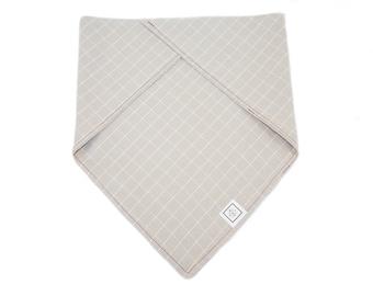 Dog Bandana-Gray Checkered Plaid
