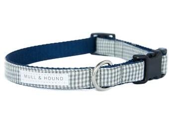 Dog Collar-Checkered Gray Plaid