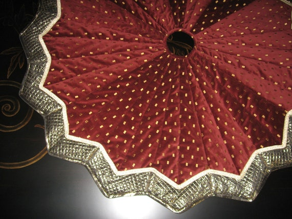Xmas tree skirt wine tree skirt velvet tree skirt free shipping by