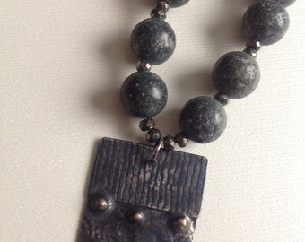 Jasper with starling drop necklace