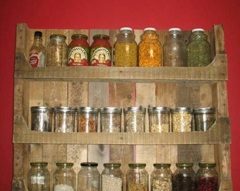 Spice rack from Palletenholz