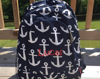 anchor backpack,anchor bookbag,anchor school bag,navy anchor bag,anchor diaper bag, anchor tote,navy anchor bookbag,anchor baby,anchor bags