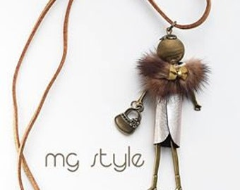 hand made doll necklace