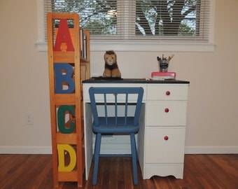 Solid Wood Kid's Desk & Chair