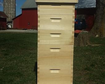 Bee Hive 5 medium complete beekeeping kit. ( Un-assembled )